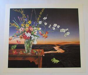 Signed P. S. Gordon Floral Still Life Serigraph Print 30/150 1997