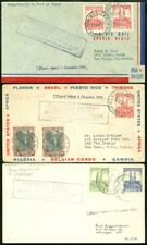 Edw1949Sell : Belgian Congo 3 Better 1941 First Flight covers to Usa.