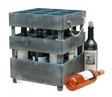 New vintiquewise Antique Style Stackable Wooden Wine Crates, QI003069A