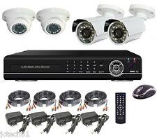 Kit vidéo surveillance COMPLET, DVR IP 4voies 500Go + 4 caméras HD CCD