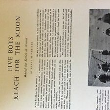 A1c ephemera 1953 football article behind the scenes at arsenal alf fields