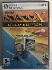 MICROSOFT  Flight Simulator X Golden Edition Simulatore di volo Edizione Oro NEW