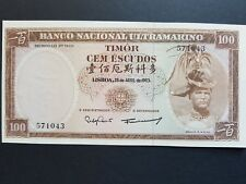 EAST TIMOR 100 ESCUDOS UNC 1963 CURRENCY MONEY BILL