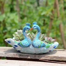Ceramic Decor Flower Pots Mini Peacock Shaped Succulent Planters Garden Supplies