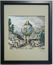 Its nurse was the Earth, from a 17th century engraving - painted by Adam McLean