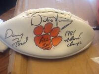 Dabo Swinney and Danny Ford Signed Clemson Tigers Football! Both legends signed!
