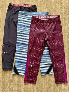 Under Armour Compression Cropped Leggings Women's Size M  Set of 3