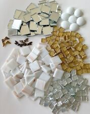 Mosaic Glass Assorted 1 lb Gold Silver Mirror Dragonfly DIY Craft and Art Supply