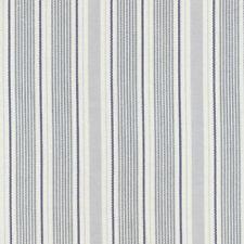 AU MAISON Wachstuch Ida Dusty Blue Streifen Blau beschichtete Baumwolle 0,5Meter