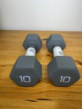 Cap PAIR (2) OF 10 Pound Neoprene (20 Lb )Total Hex Dumbells Brand New