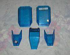 Lego Space Transparent Trans Dark Blue Windscreen Windshields - Lot of 5 - 3439