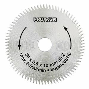 """Proxxon Lame de Scie Circulaire """" Super Coupe """", 58 MM (80 Dents )"""