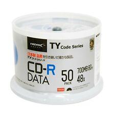 50 Pack HiDisc CD-R Taiyo Yuden TY Code White Inkjet Hub Printable Blank Disc