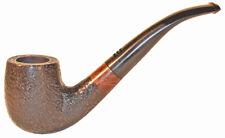 Carey Magic Inch Smoking Pipe - Full Bent Black Rustic 311K