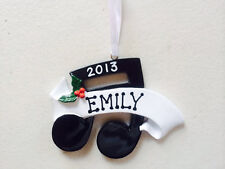 Personalized Musical Note Piano Guitar Recital Musician Christmas Ornament Gift