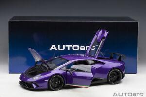 Autoart LAMBORGHINI HURACAN PERFORMANTE Viola Pasifae 1/12 Scale New Release!