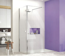 MERLYN IONIC SHOWERWALL + CORNER PANEL 8mm GLASS WETROOM SHOWER BATHROOM PANEL