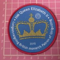 Longest Reigning Monarch Girlguiding Badge 2015 Guides Scouts Camp Blanket