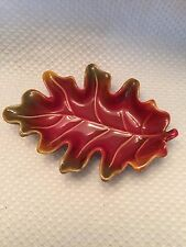 Autumn Colors Small Leaf Dish Decor Candy Nuts Snacks Bowl Filler  Dark Red