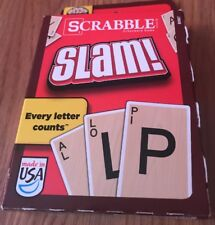 SCRABBLE SLAM! Classic Card Game Word Letter Spelling Fast Action Family Fun NEW