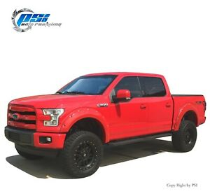 Pocket Bolt Style Fender Flares Fits Ford F-150 2015-2017 Paintable Finish