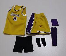 Custom 1/6 kobe bryant lakers jersey 8 classic NBA TOYs home yellow fit enterbay