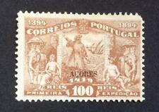 Portuguese Azores 1894. 100r Brown (MH)