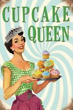 Cupcake queen Vintage Retro Metal Sign, kitchen, gift, cakes