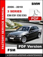 2006 - 2010 BMW 3 SERIES E90 E91 E92 E93 SERVICE REPAIR WORKSHOP MANUAL