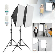 2x Fotostudio Foto Studioset Softbox Teleskop Studio mit Tragetasche Studio Neu