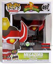 Funko Pop Power Rangers Megazord Metallic AAA Exclusive 497 Vinyl Figure