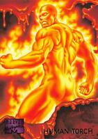HUMAN TORCH / 1995 Marvel Masterpieces (Fleer) Base Trading Card #45