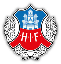 Helsingborgs If Sweden Soccer Football Car Bumper Sticker Decal 5'' x 5''