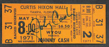 Johnny Cash Autograph & Concert Ticket Reprint On Genuine 1970s Card *9007