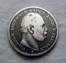 2 Mark - Preussen - 1876 - B - Wilhelm I. - Echte alte Münze - (t14n479)