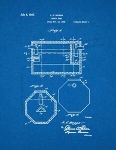 Septic Tank Patent Print Blueprint