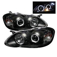 Toyota 03-08 Corolla Black Dual Halo LED Projector Headlights Lamp CE LE S XRS