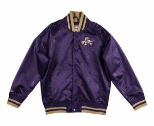 Mitchell & Ness NBA Toronto Raptors CNY Satin Jacket Men's Purple Gold Outwear