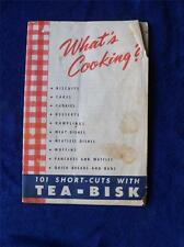 WHAT'S COOKING? 101 SHORT-CUTS WITH TEA-BISK RECIPE BOOKLET MONARCH MIXES RARE!