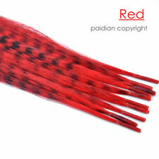 Lots GRIZZLY Synthetic I tip Feather Hair Extensions Plus Free Beads And Hook