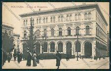Bologna città Piazza Minghetti PIEGA cartolina QQ8910