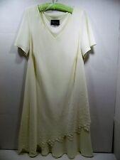 Womens Dress S.L. Fashion Plus Size 2X 22W Beaded Embellished Ivory Short Sleeve