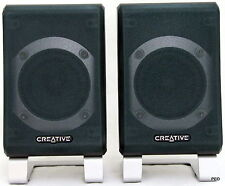 Creative Labs Inspire T5400 Rear Speakers Black Silver Bookshelf Pair Stereo