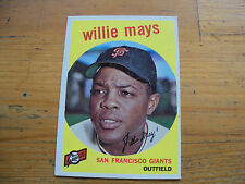 1959 TOPPS BASEBALL WILLIE MAYS CARD # 50 NM CONDITION