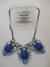 J.Crew Blue/Light Blue Flower Curtain Necklace NWOT $59.50