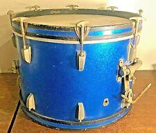 1964 Vintage Ludwig Keystone Badge Bass 3-Ply Wood Drum Blue Sparkle