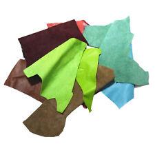 LEMO variety of colors genuine leather cut pieces scraps Crafts decorations 2LB