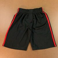 Spiderman Marvel Boys Size 14 Black Red Side Stripe Athletic Pull On Shorts NWOT