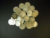 3 Vintage Collector Hoard 90% Silver Dimes Barber Mercury Roosevelt