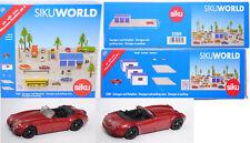 Siku WORLD 5589 Garagen und Parkplatz mit Wiesmann in purpurrotmetallic